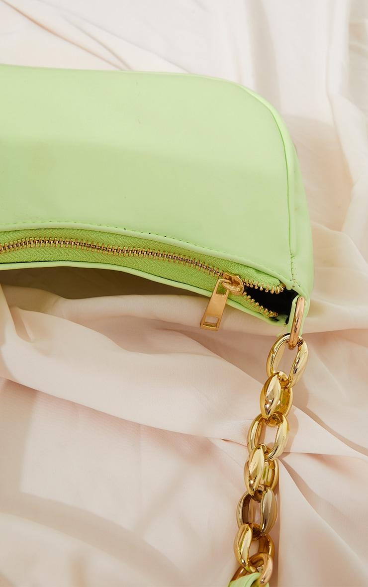 Lime Gold Chain Strap Shoulder Bag 3