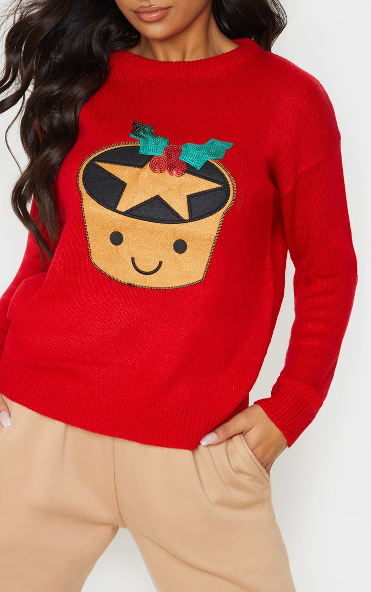 Red Mince Pie Christmas Jumper 5