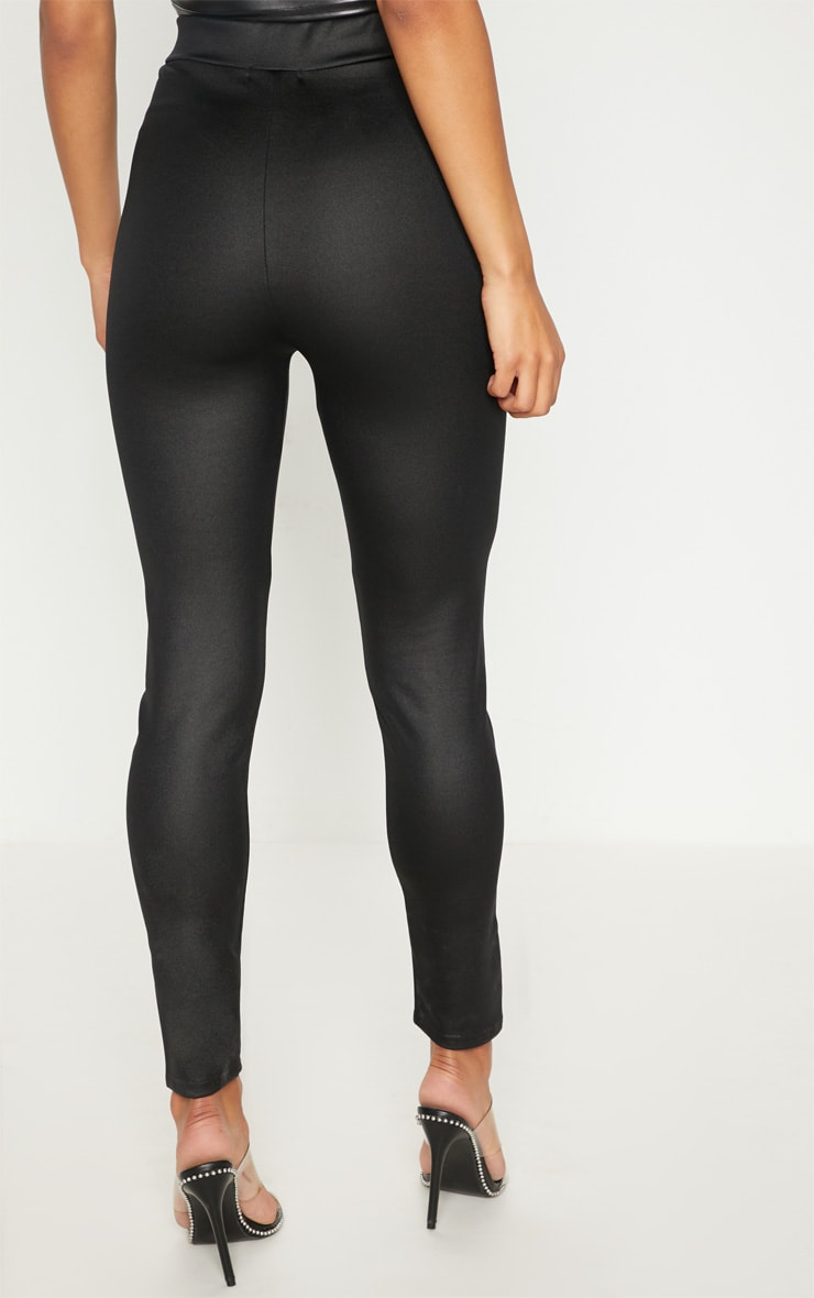 Black Scuba Wet Look Legging 4