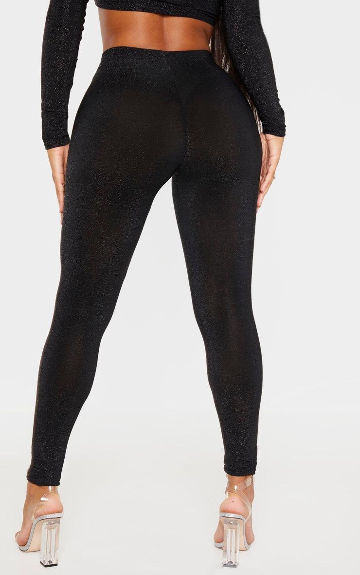 Shape Black Glitter High Waist Legging 4