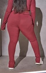 RENEW Plus Red Split Hem Seam Detail Leggings 3