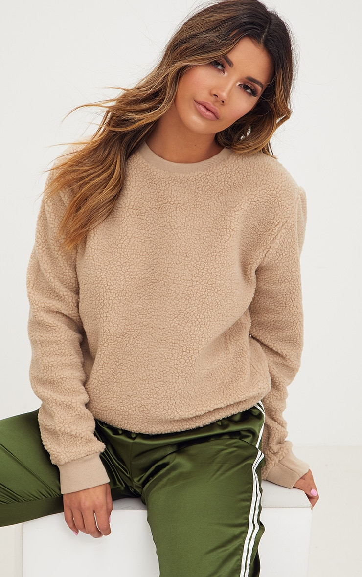 Camel Borg Sweater 1