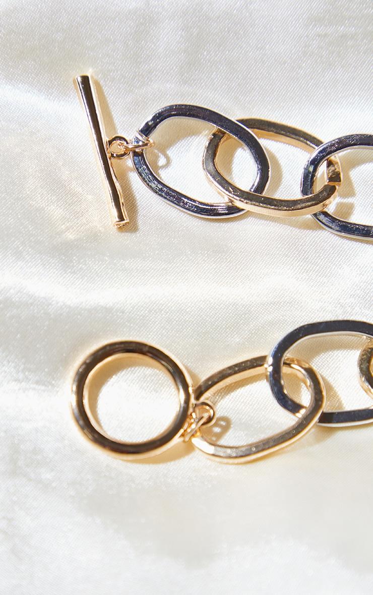 Bracelet doré et argenté à barre en T 3