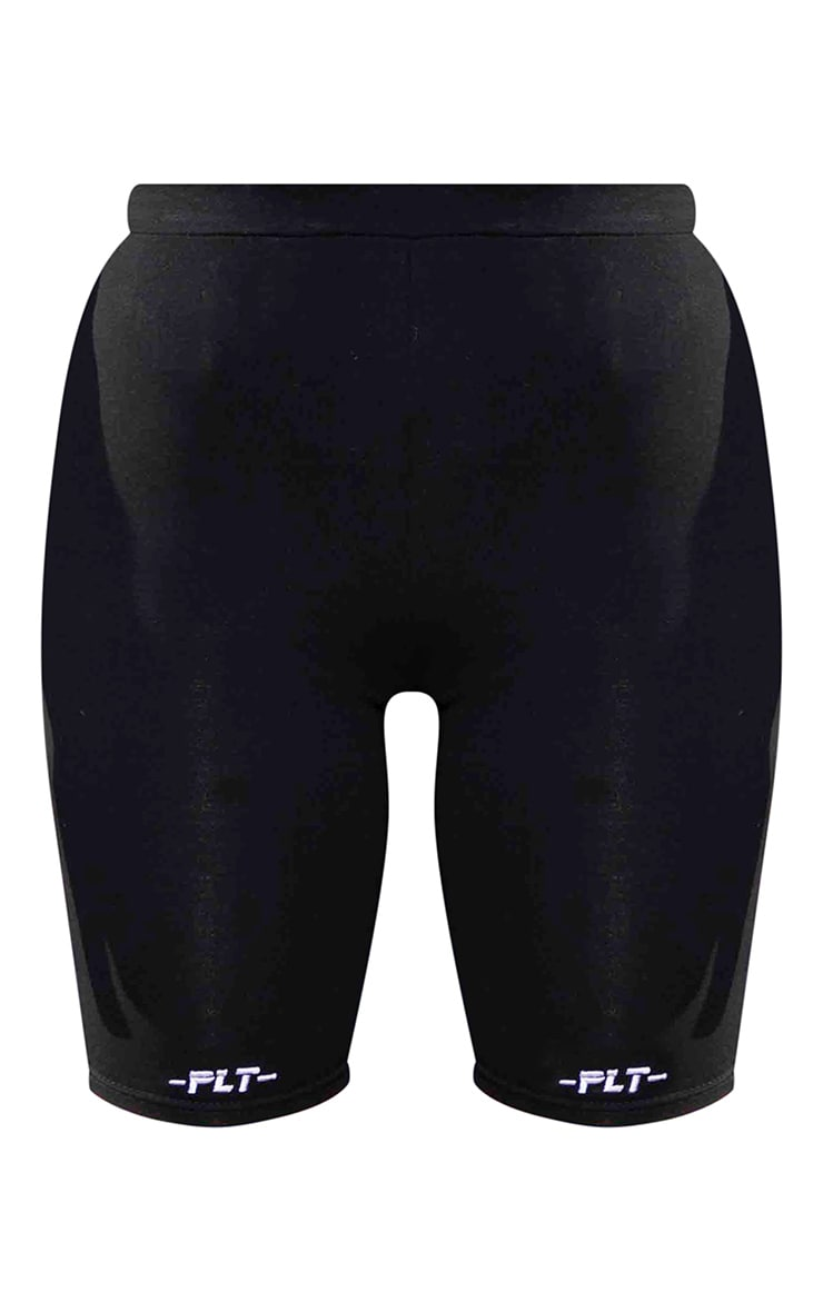PRETTYLITTLETHING Black Fitted Cycle Shorts 5