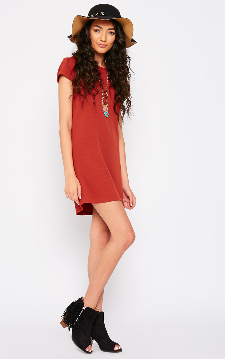 Camila Rust Loose Fit Shift Dress 3