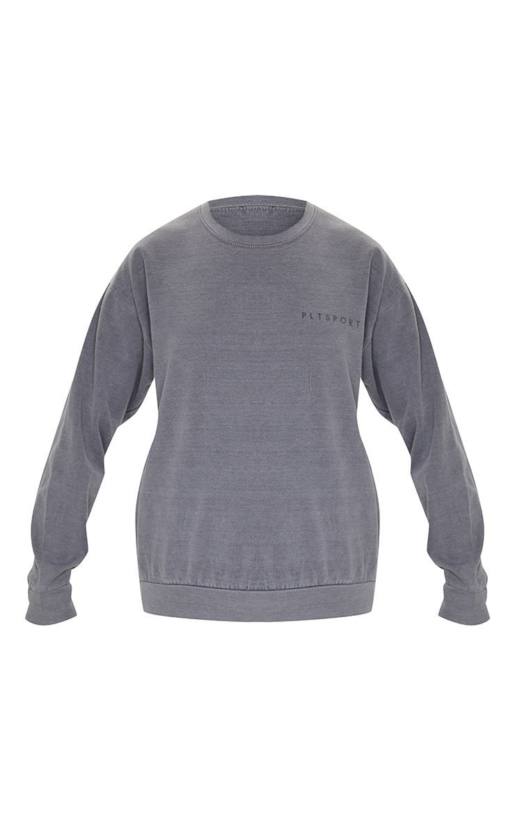 PRETTYLITTLETHING - Sweat de sport gris anthracite 5
