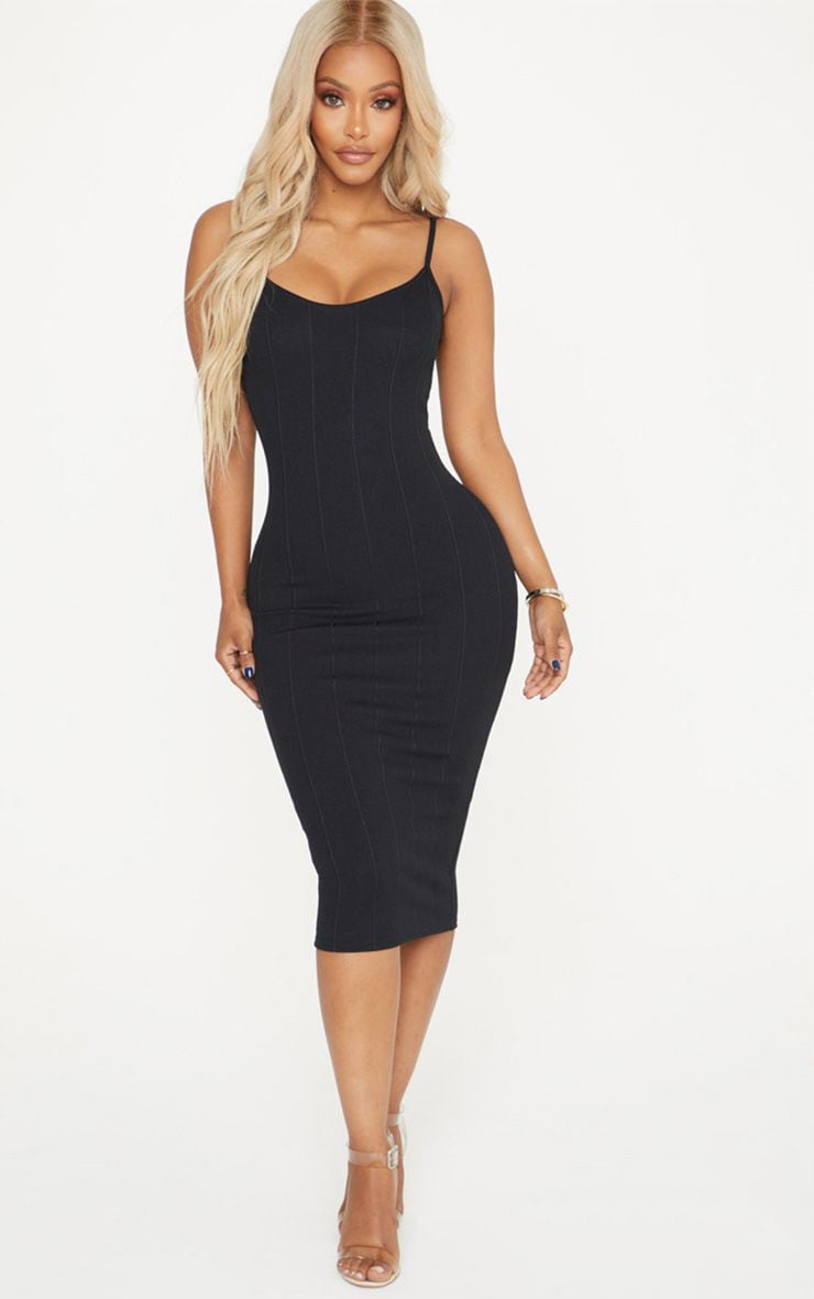 Shape Black Bandage Midi Dress 1