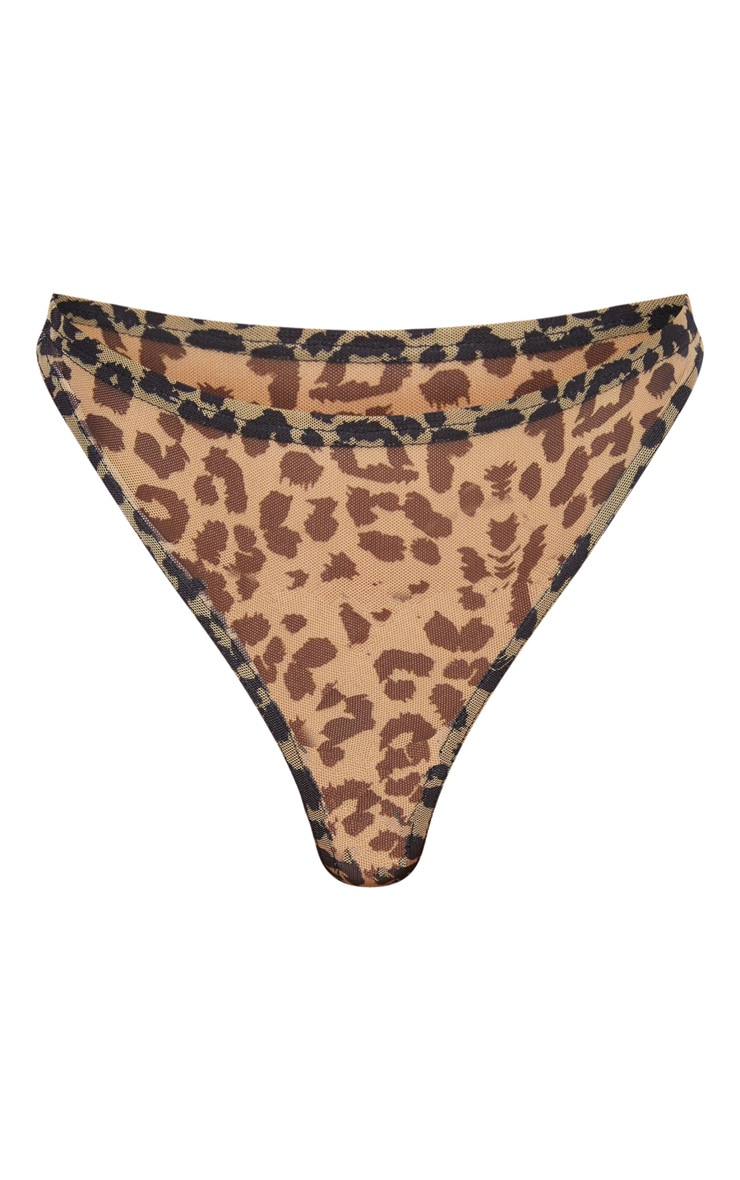 Brown Animal High Leg Panties 3