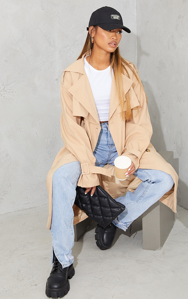 Camel Oversized Belted Midi Trench 3
