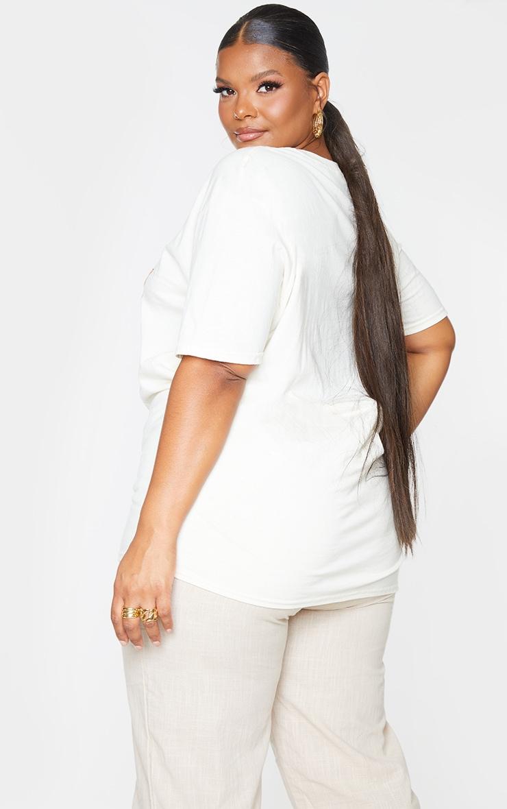 Plus Cream Monteray Print T Shirt 2