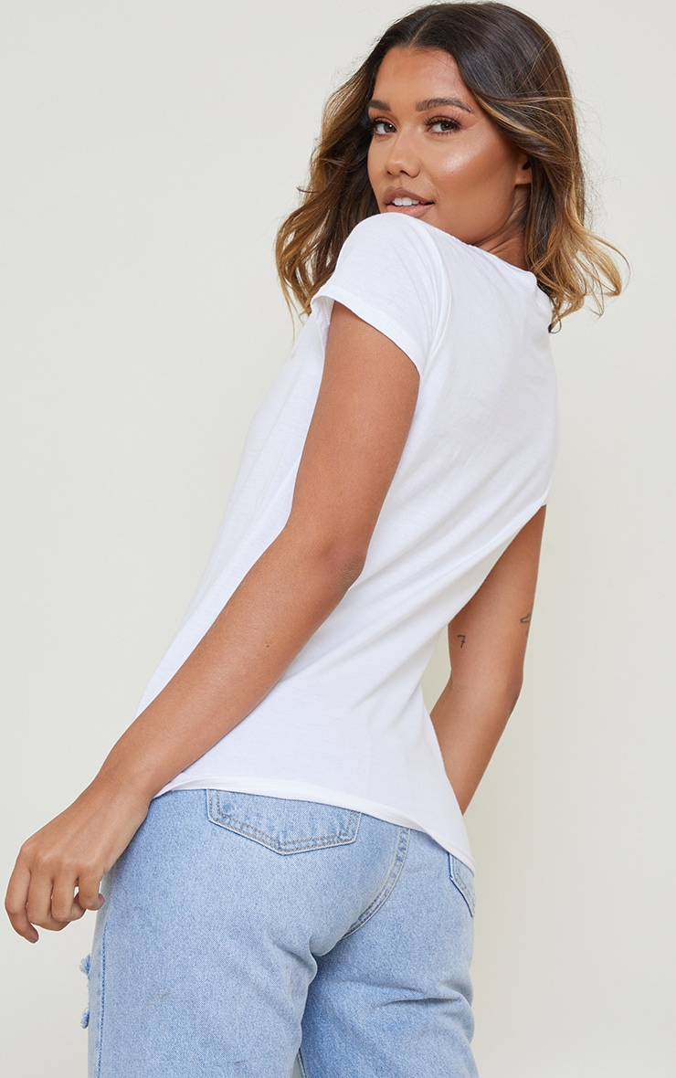 White Sasha Bratz Fitted T Shirt 2