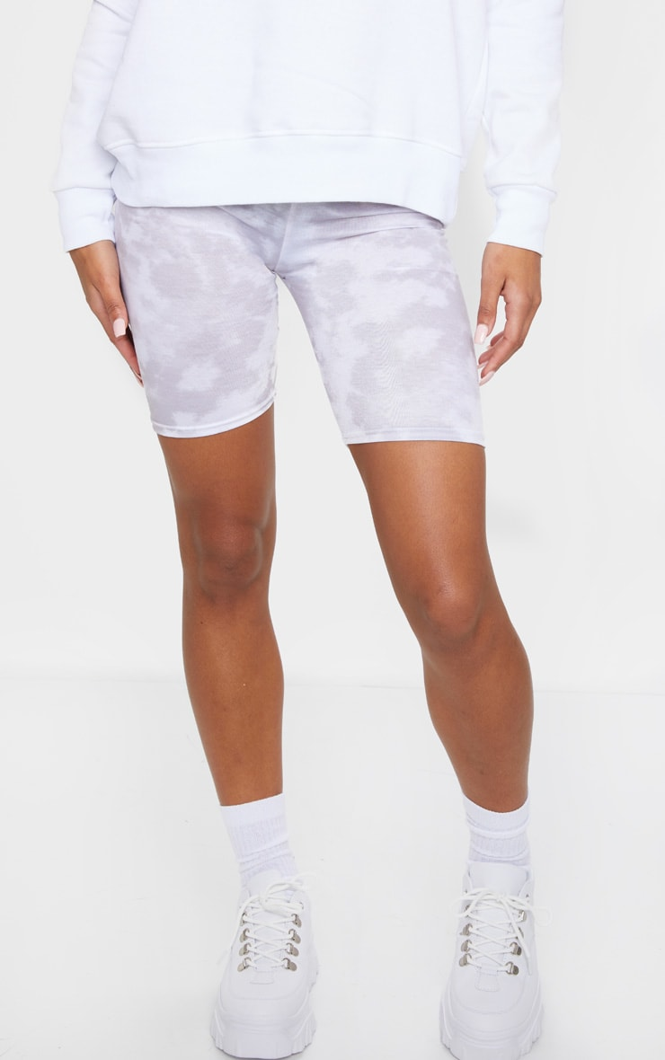 Basic White Tie Dye Cycle Shorts 2