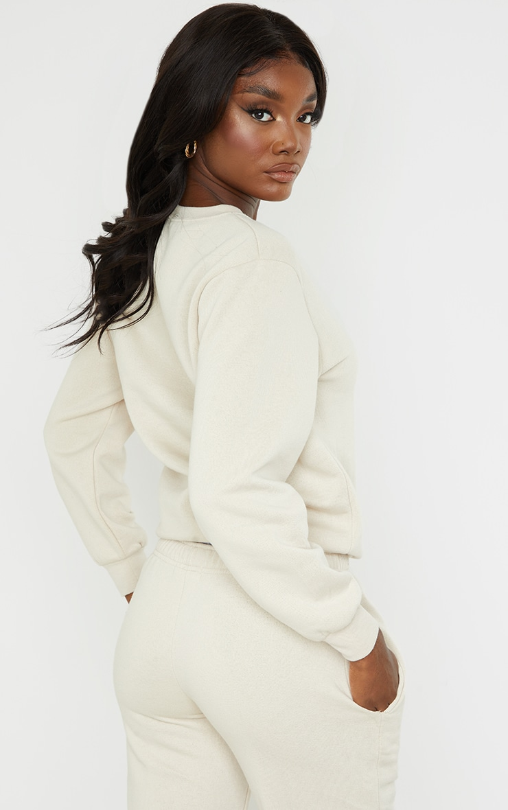 PRETTYLITTLETHING Tall Washed Stone Oversized Sweater 2
