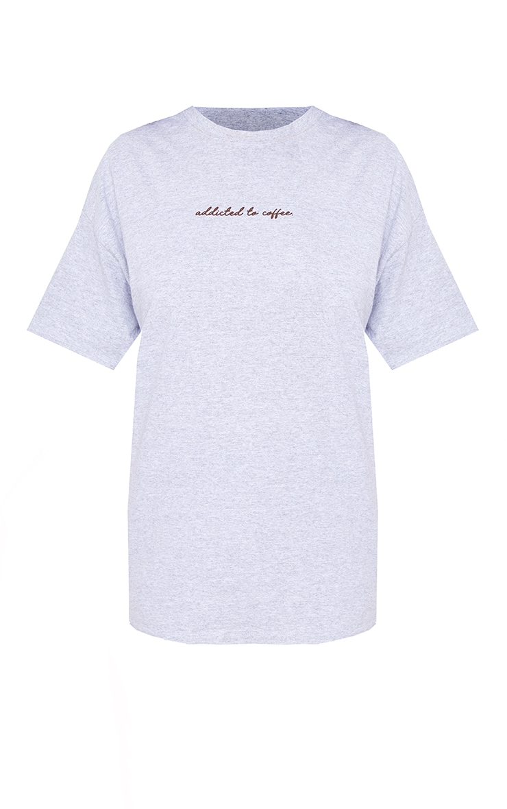 Plus Grey Addicted To Coffee T Shirt 5