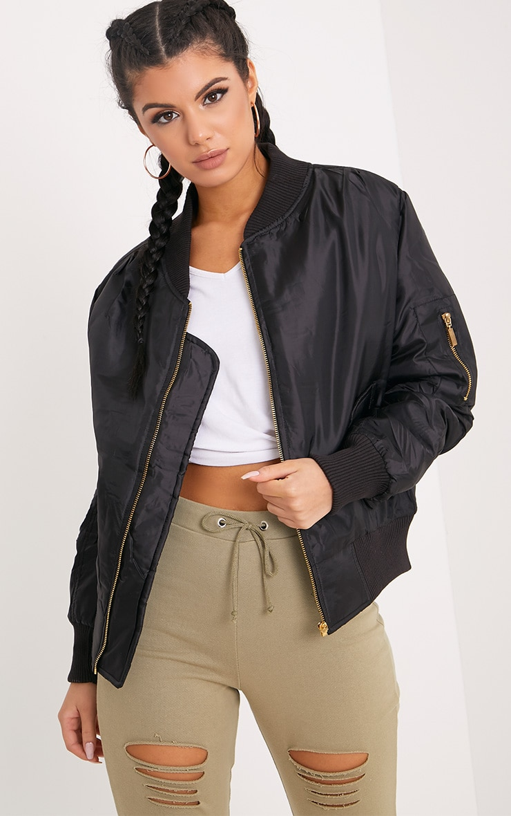 Alexus Black Bomber Jacket