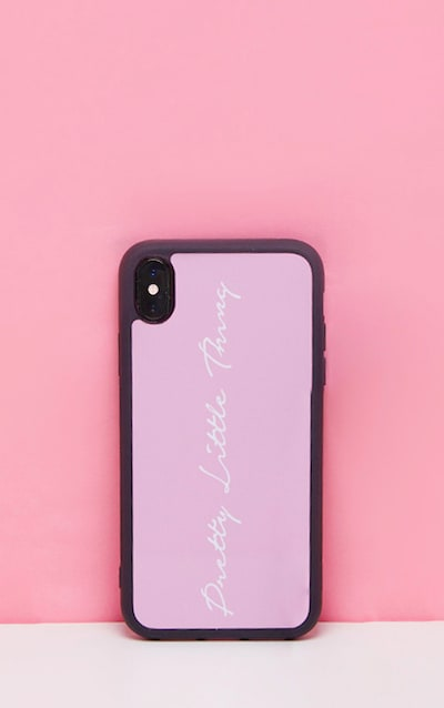 PRETTYLITTLETHING Baby Pink Scribble Logo XR Iphone Case