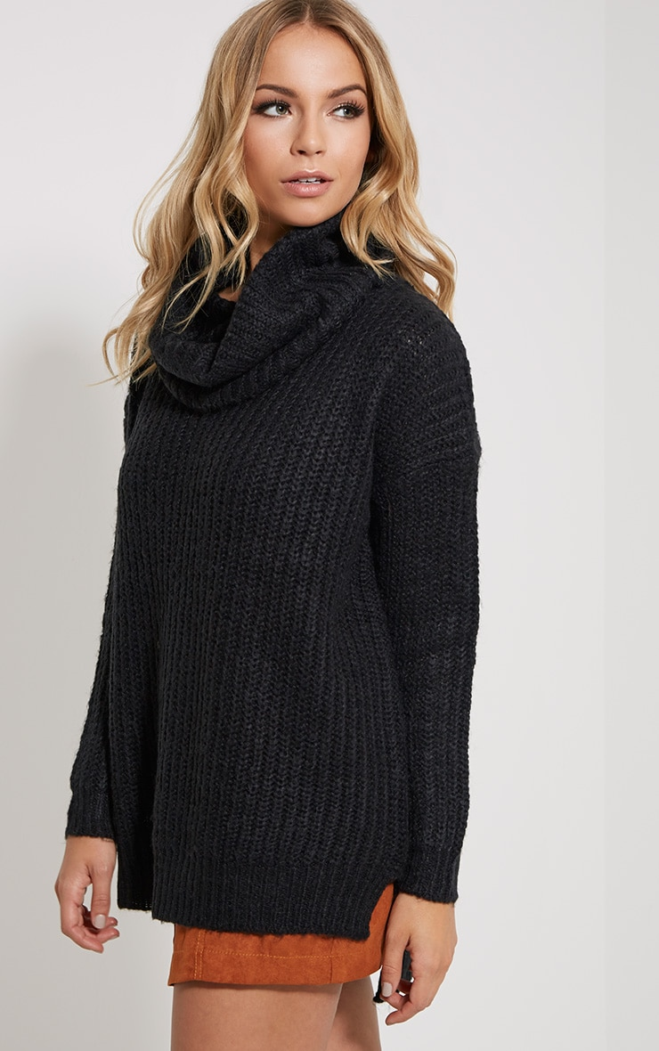 Tayte Black Turtle Neck Jumper 4