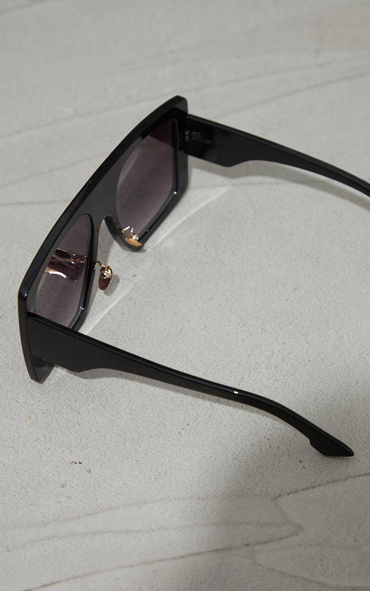 Black Recycled Plastic Oversized Back Frame Sunglasses 3