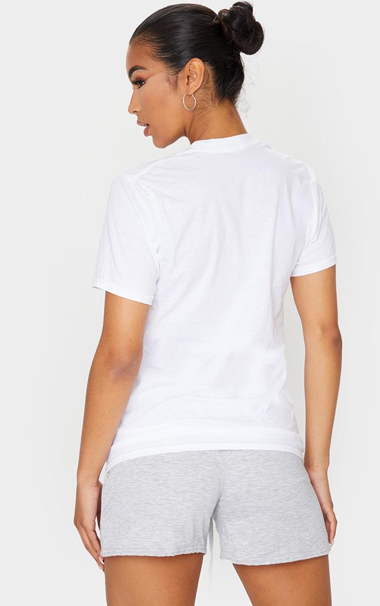 PRETTYLITTLETHING - T-shirt oversize blanc à slogan 2