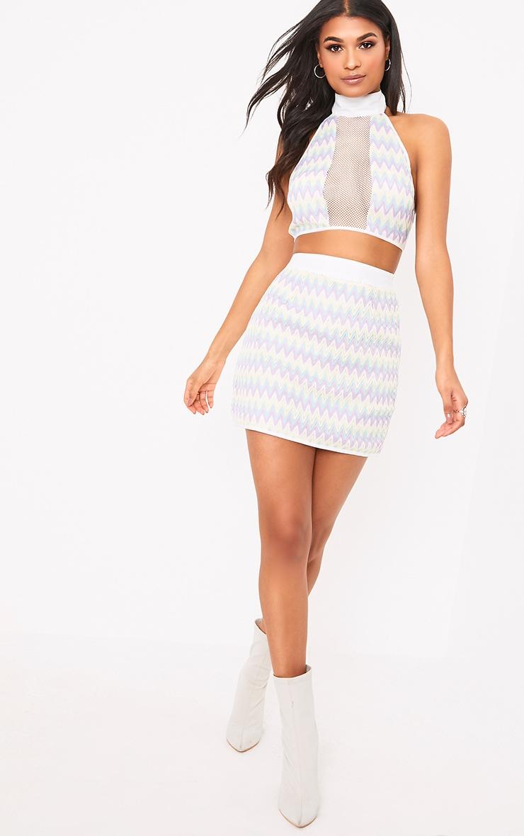 Amette Lilac Chevron Mini Skirt  5