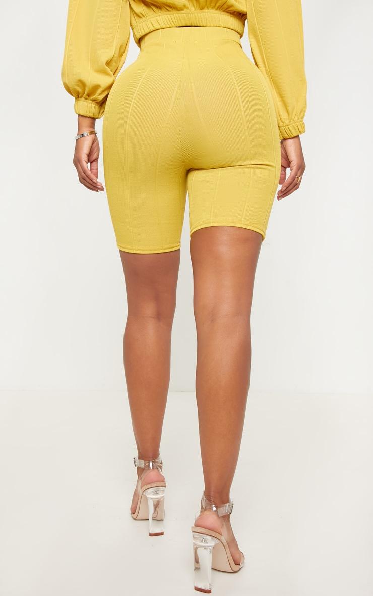 Shape Lime Wide Rib Bike Shorts 4