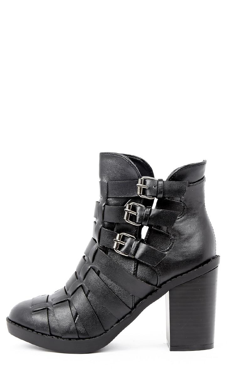 Margie Black Weave Boots 1