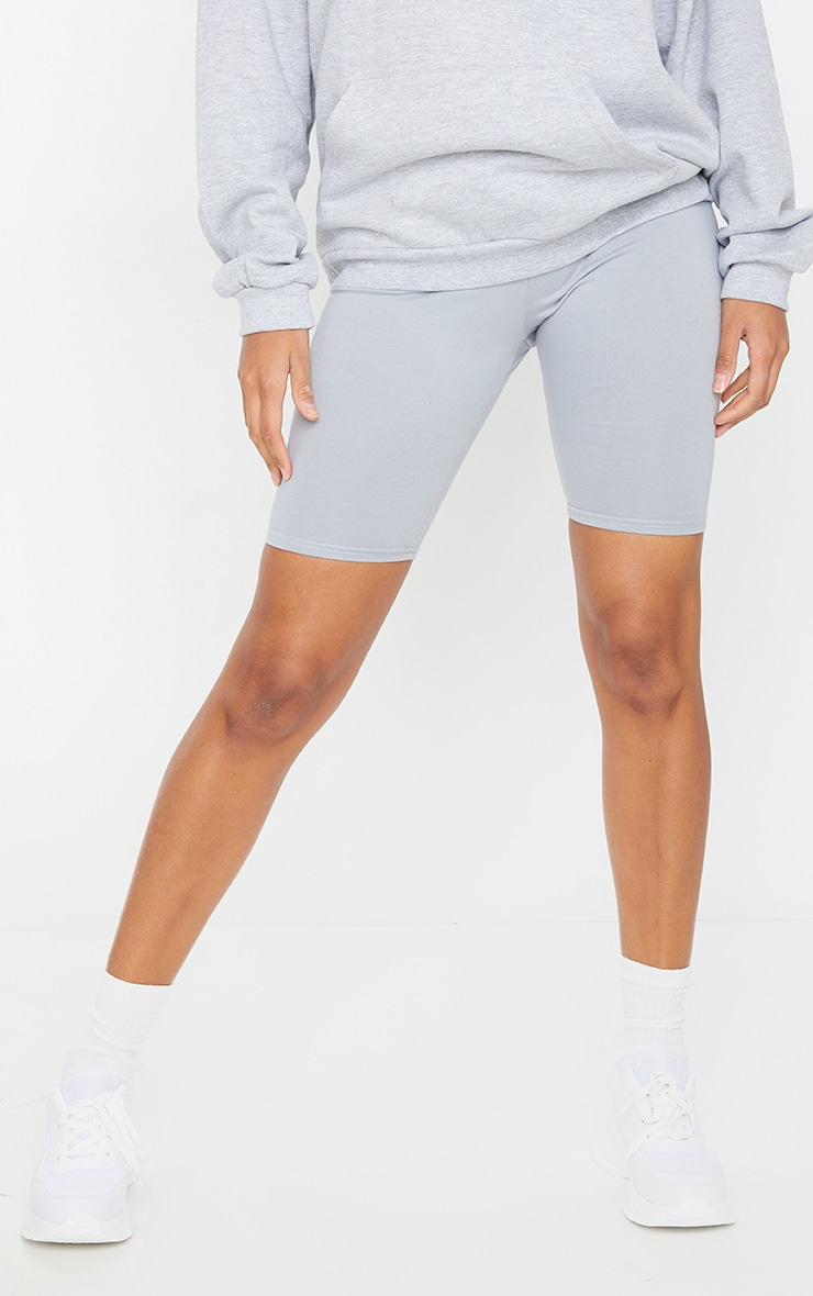 Short legging en coton stretch gris spatial 2