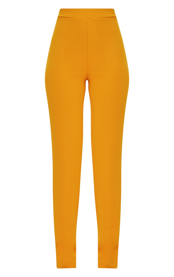 Mustard Straight Leg Suit Trousers 3