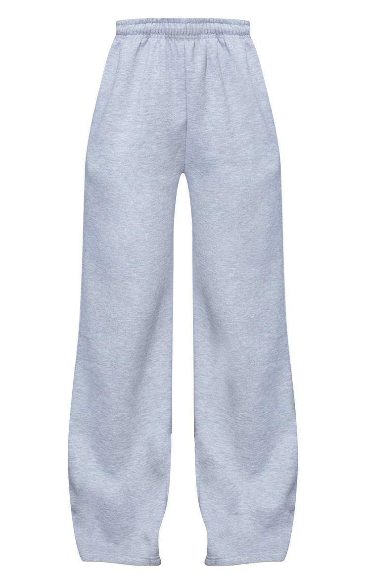 Grey Marl Wide Leg Joggers 5