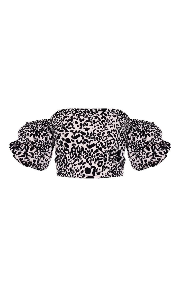 Dusty Pink Leopard Bardot Top 3