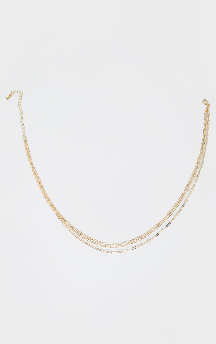 Gold Delicate Link Chain Layering Necklace 4