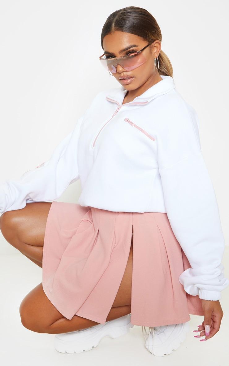 Dusty Pink Pleated Side Split Tennis Skirt 5