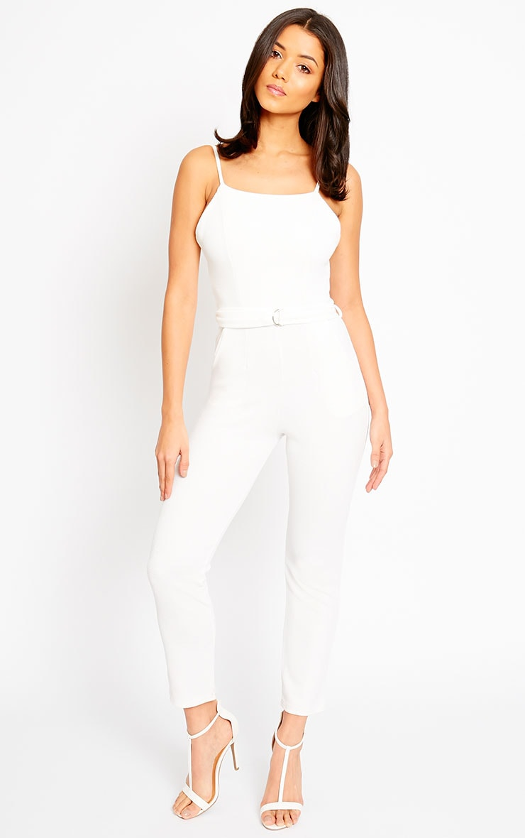 Zelda Cream D-Ring Belt Jumpsuit 3