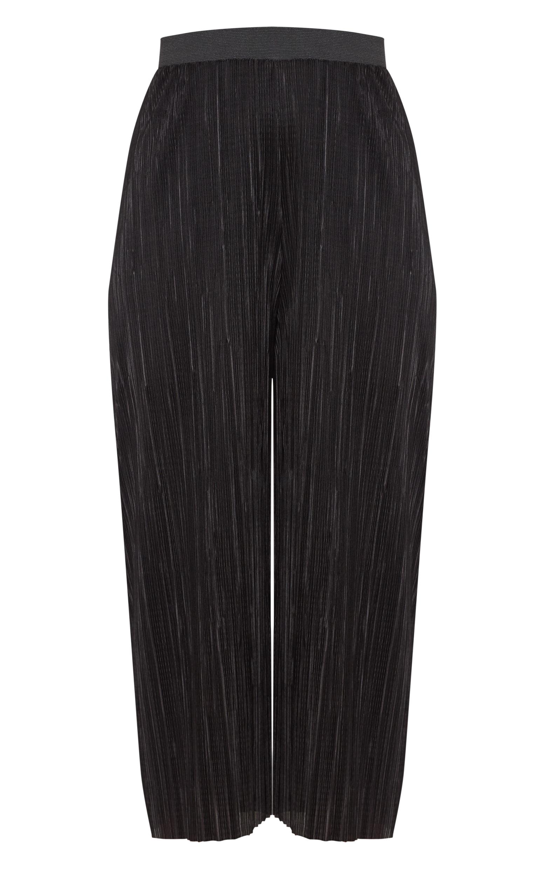 Black Oversized Plisse Culotte 3