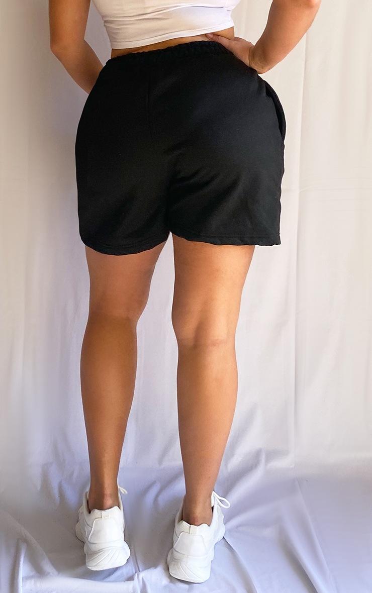 Plus Black Sweat Pocket Shorts 3