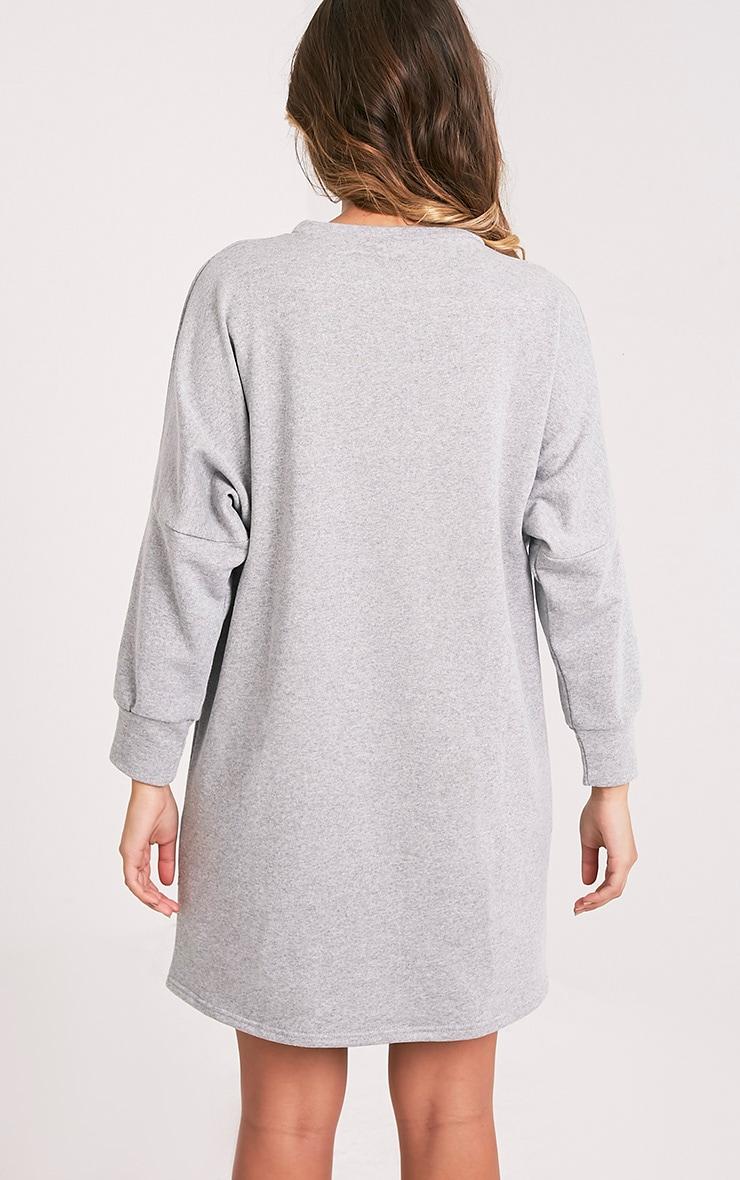 Laine robe pull surdimensionnée grise 2