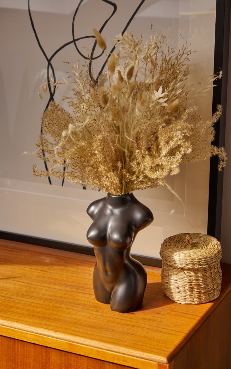 Black Matte Large Female Body Vase 1
