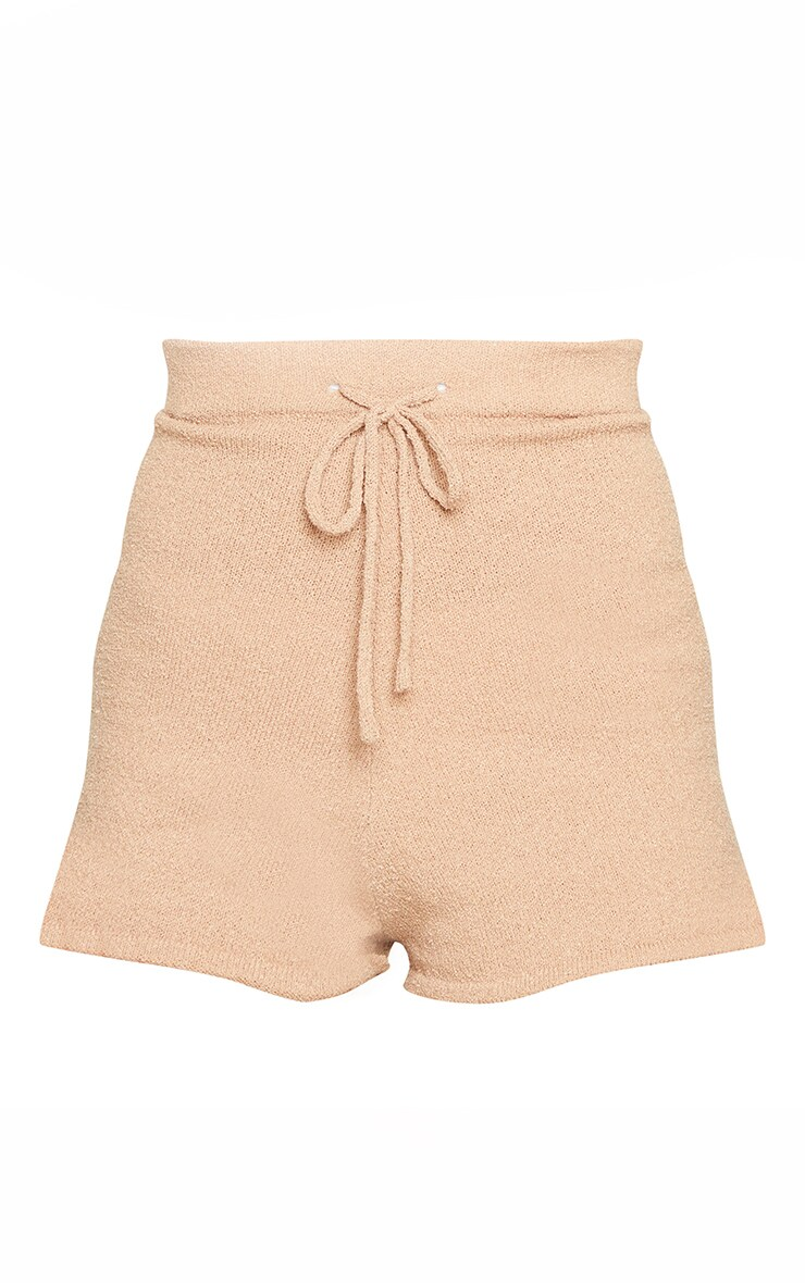 Stone Tie Waist Towelling Knit Shorts 5