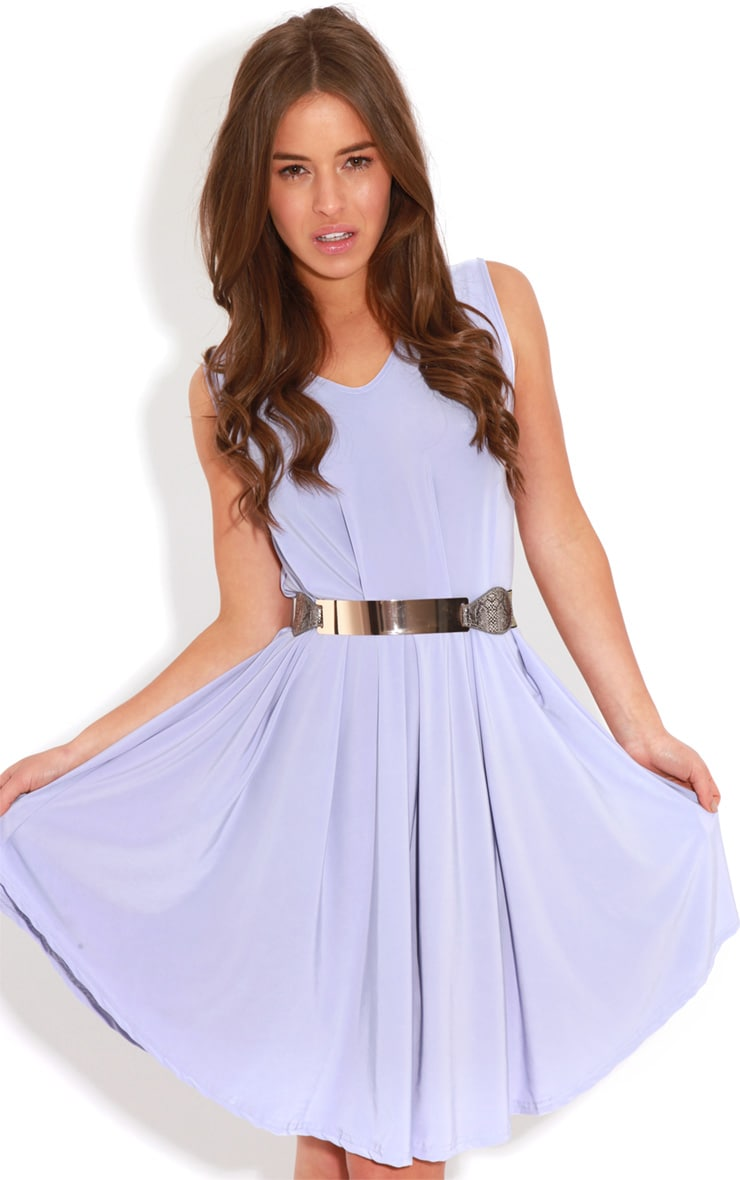 Anita Lilac Swing Dress 4