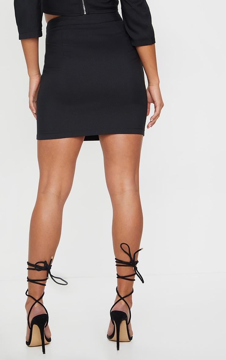 Petite Black Bodycon Mini Skirt 3