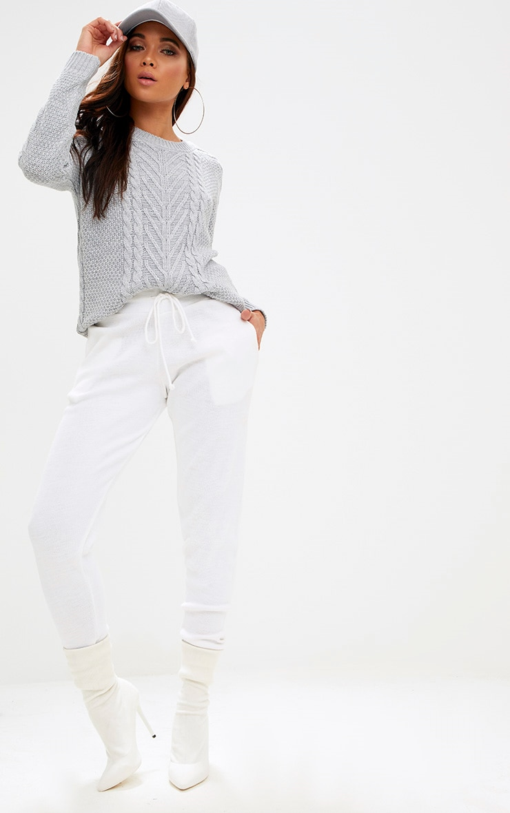 Grey Cable Knit Jumper 4