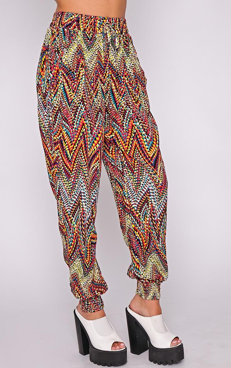 Nahla Yellow Print Harem Trouser 3