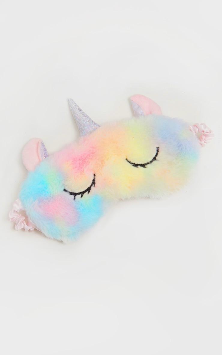 Rainbow Unicorn Fluffy Eyemask 2