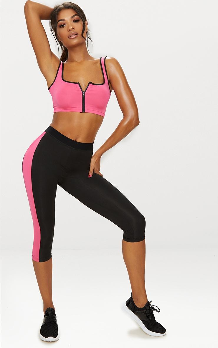 Pink Zip Through Crop Top 5