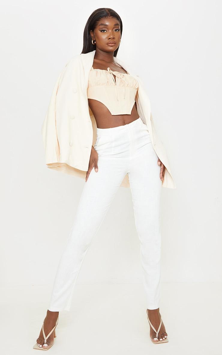 Tall - Pantalon évasé léger blanc 1