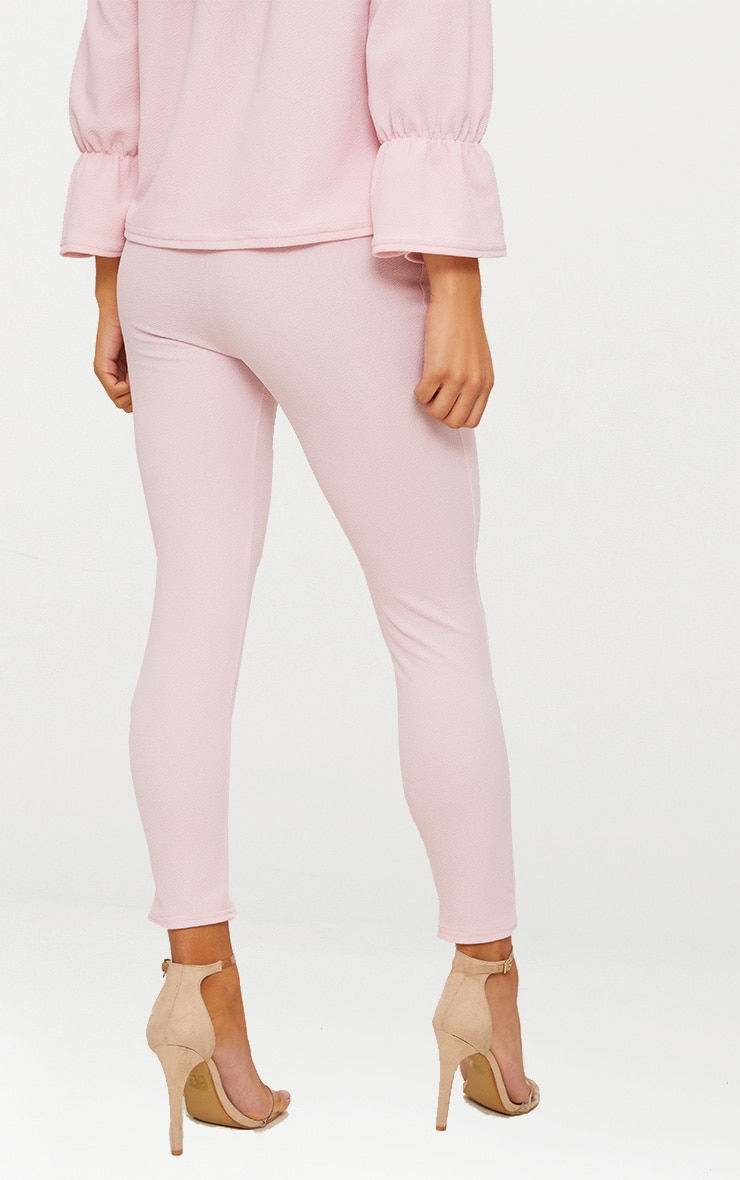 Pale Pink Cropped Trouser 4