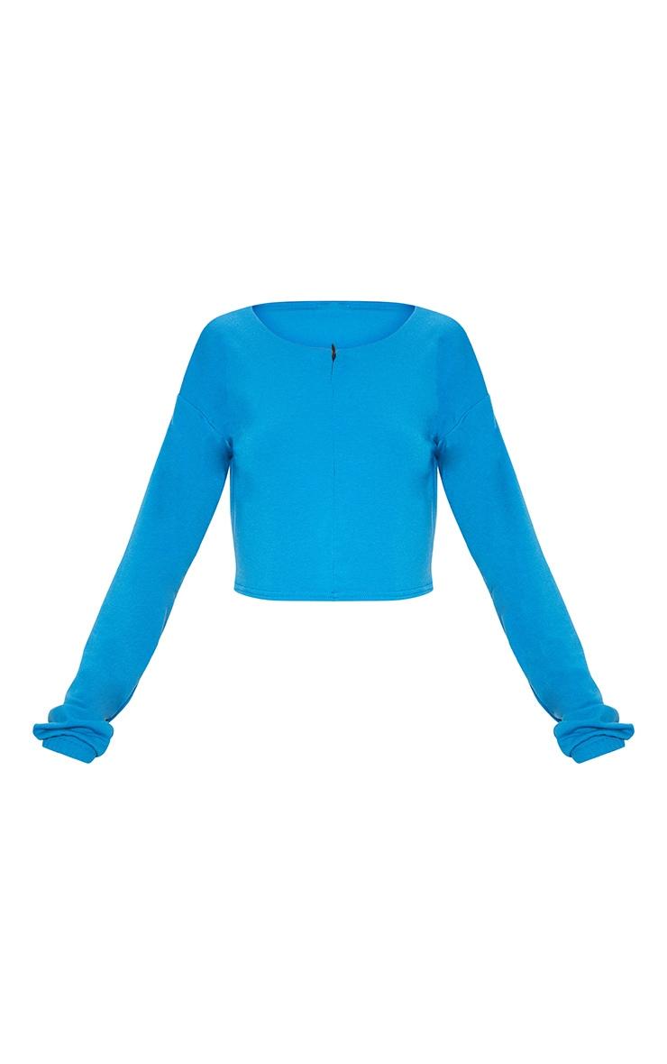 Blue Zip Front Sweater 2