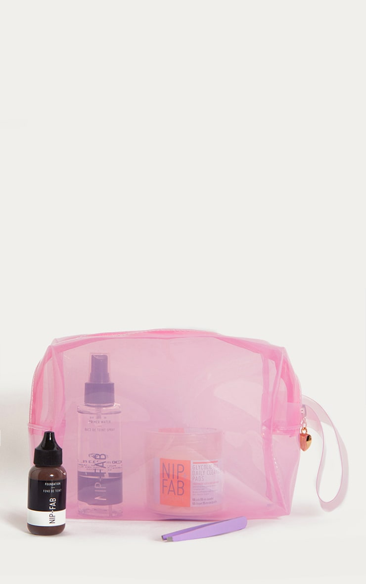 Pink Clear Large Wash Bag 2