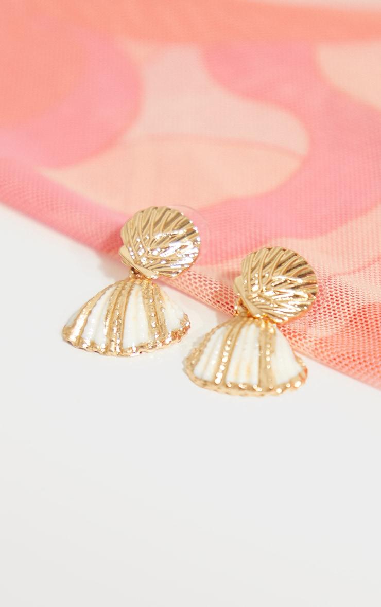 Gold Shell Earrings 3