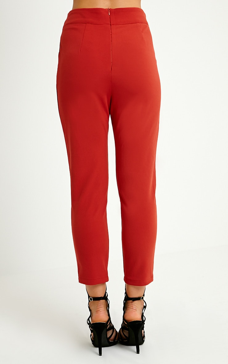 Neri Rust Notch Front Trousers 4